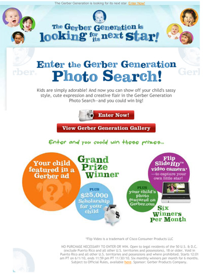 2010 Gerber Photo Contest