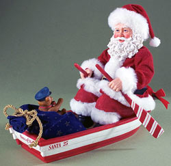 Santa on a boat