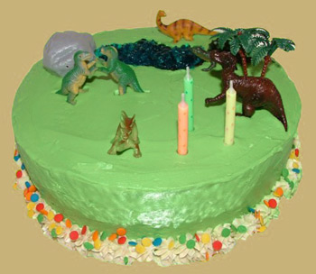 Third birthday cake - dinosaur birthday cake