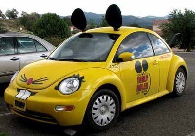 Truly Nolan yellow mouse car