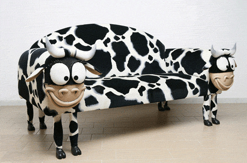 Cow sofa, cow couch