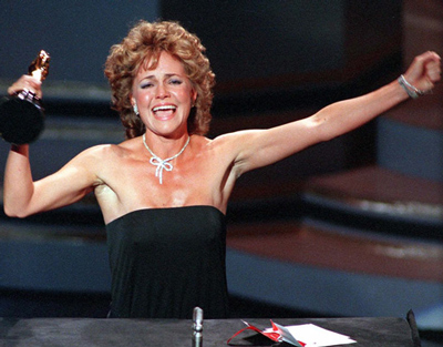 Sally Field giving her Oscar acceptance speech
