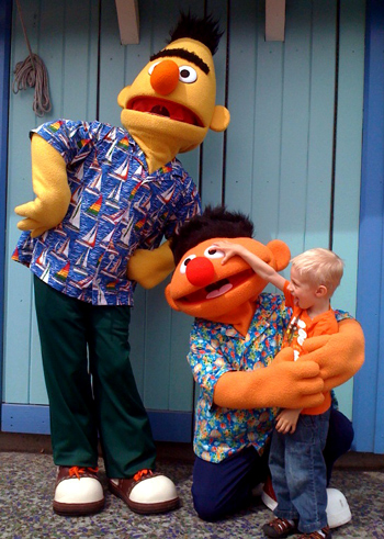 Wordpress weekly photo challenge: hands - Elmo and Bert at SeaWorld San Diego