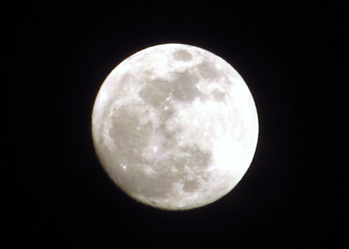 Close-up of the April 2012 supermoon