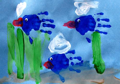 Wordpress photo challenge: create - painting of an underwater scene