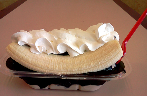 Dairy Queen banana split