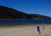 Wordpress weekly photo challenge: Free Spirit - running at Lake Hemet, California