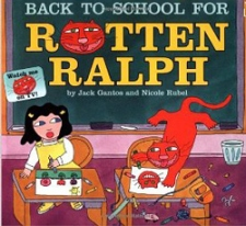 Back to school for rotten ralph by Jack Bantos