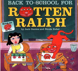 Back to school for rotten ralph y Jack Bantos
