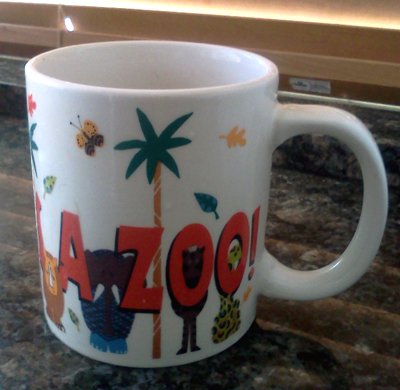 Wordpress weekly photo challenge: mine - my tea mug from the San Diego Zoo
