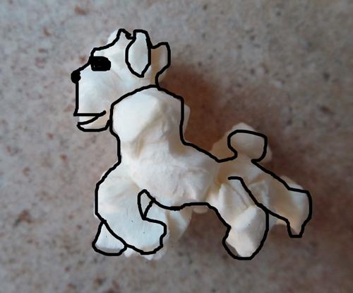Popcorn art - dog