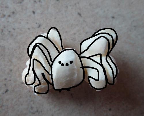 Popcorn art - spider