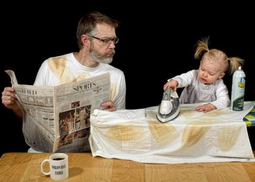 Teach your toddler to iron! Copyright Dave Engledow