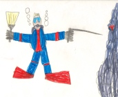 Kid art - underwater diver