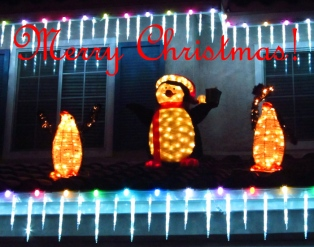 merry christmas penguins decorations