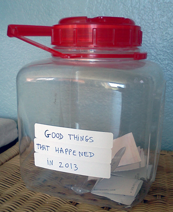 Jar of good things that happened in 2013