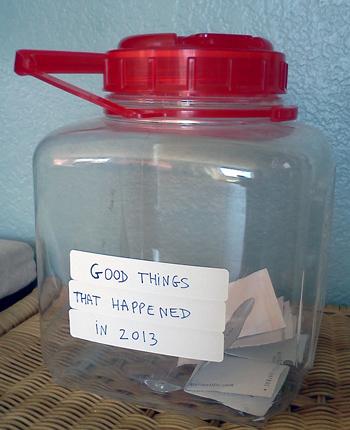 Jar of good things that happened in 2013