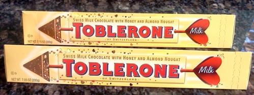 Toblerone chocolate for Valentine's Day