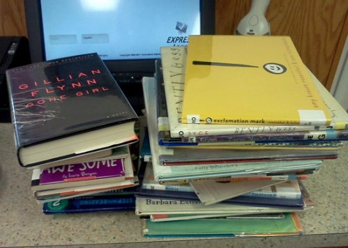 Wordpress weekly photo challenge: A day in my life - new books at the library