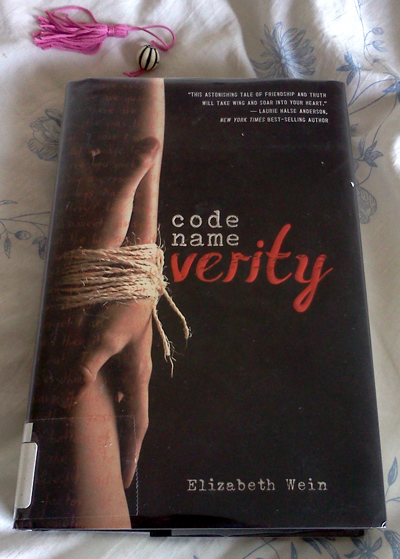 Wordpress weekly photo challenge: A day in my life - reading Code Name Verity