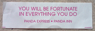 Weekly Photo Challenge: Future tense - fortune cookie