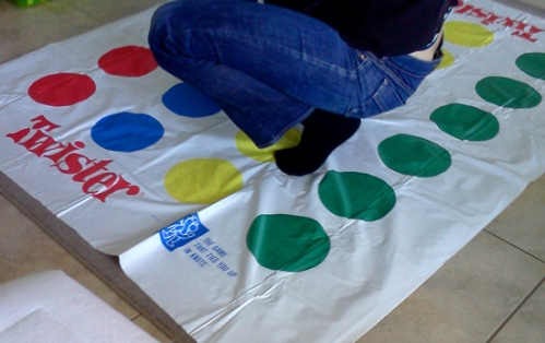 Wear appropriate clothing when playing the Twister game