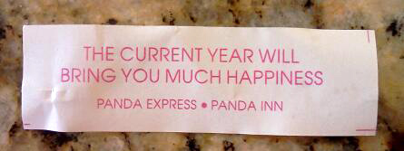 Fortune cookie - much happiness
