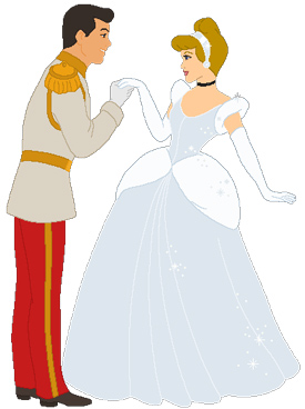 Prince Charming kisses the princess