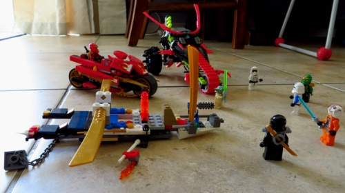 WordPress weekly photo challenge: The world through my eyes - Lego Ninjago meets Lego Star Wars