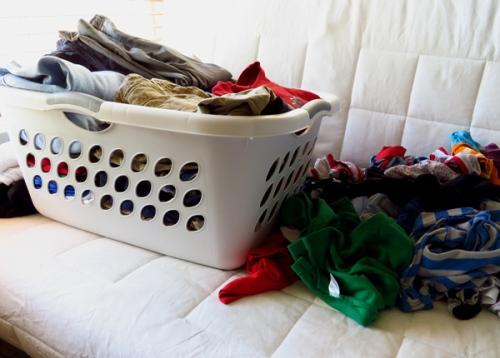 WordPress weekly photo challenge: The world through my eyes - pile of laundry