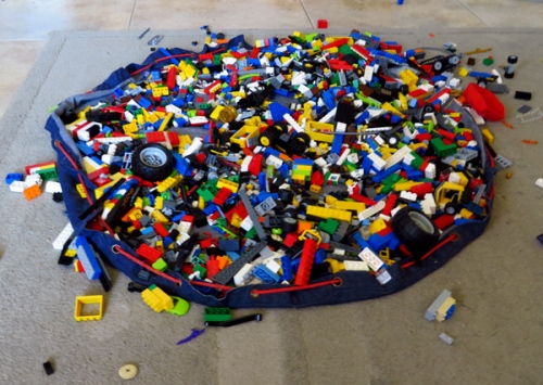 WordPress weekly photo challenge: The world through my eyes - pile of Lego pieces