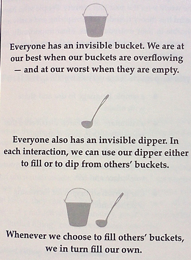 The principle of filling your bucket