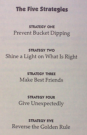 The five strategies about filling your bucket