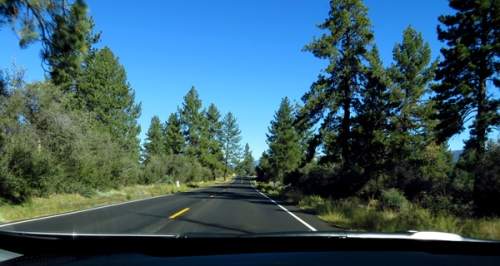 On the road to Idyllwild, California