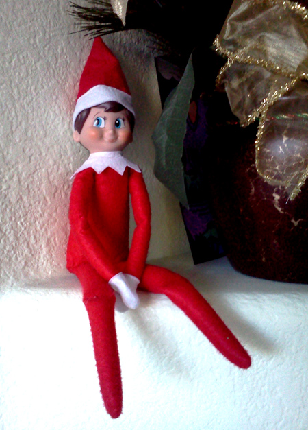 Wink, our elf on the shelf