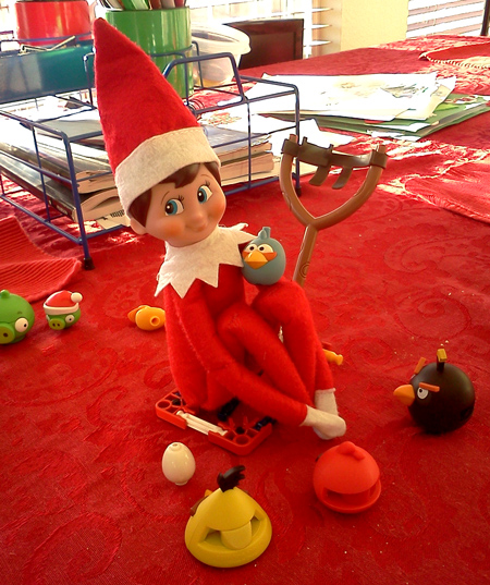 our elf on the shelf playing with angry birds - How Many Days Are There Until Christmas