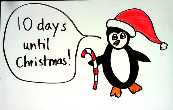penguin counts down to christmas - How Many More Days Until Christmas 2014