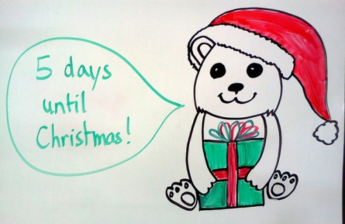 Christmas countdown: cute baby polar bear drawing