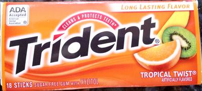 Trident gum - long lasting flavor