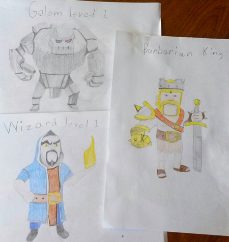 Clash of clans character drawing