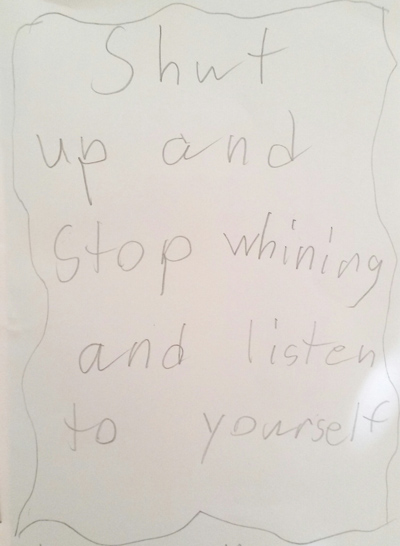 When children write self-help books